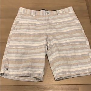 Boys nice striped shorts in blue and gray